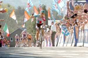 Gilbert winning fleche wallonne